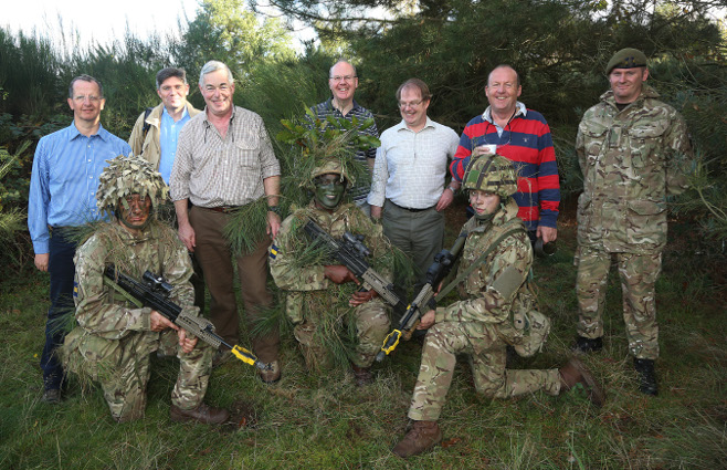 The Cutlers team with members of 3 PWRR