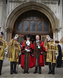 The Lord Mayor and the Lord Mayor Elect after Common Hall on the 29th September 2014