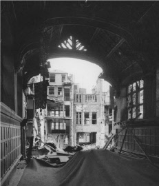 Destruction following bombing on May 10th 1941