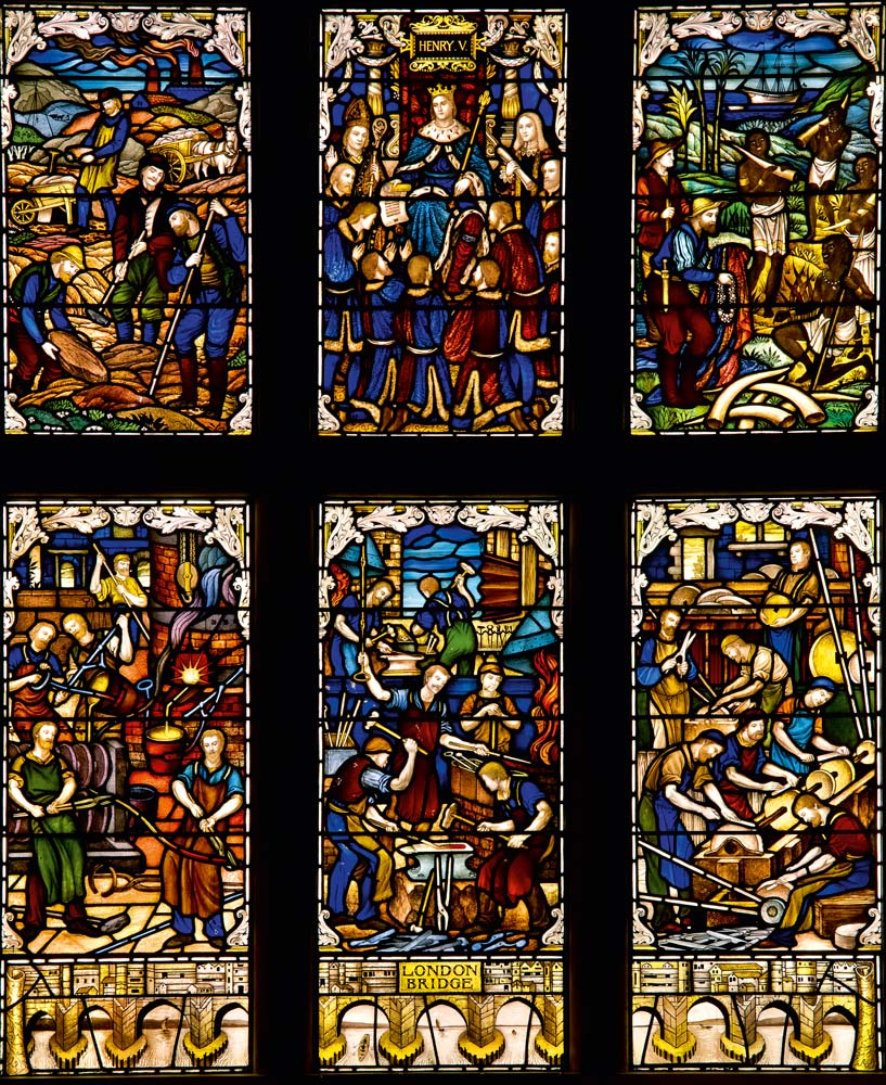 Stained Glass in the Cutlers' Hall